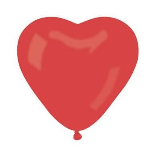 Obrázek z Latexový balonek srdce červené 25 cm