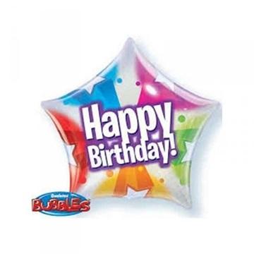 Obrázek Balonková hvězda Happy Birthday 56 cm