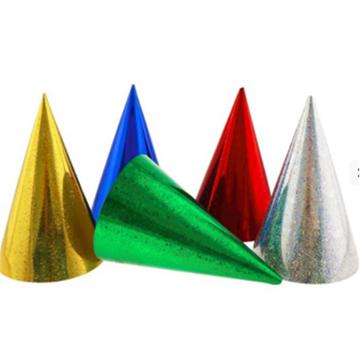 Obrázek Party papírová čepička holografická 1 ks