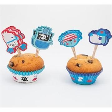 Obrázek Cup cake košíčky a dekorace - pirátské