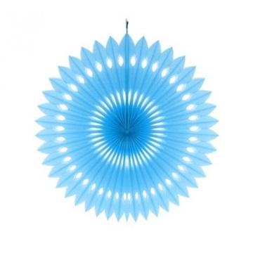 Obrázek Dekorační rozeta modrá - 40 cm