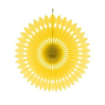 Obrázek Dekorační rozeta žlutá - 40 cm