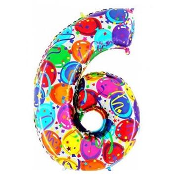 Obrázek Foliová číslice - balonková 6
