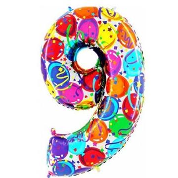 Obrázek Foliová číslice - balonková 9