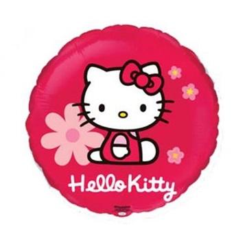 Obrázek Fóliový balonek Hello Kitty s květy 45cm