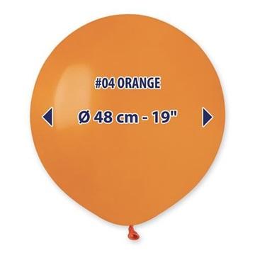 Obrázek Balonek oranžový 48 cm