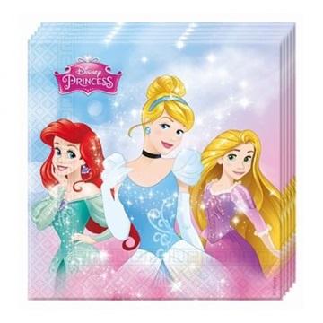 Obrázek Papírové party ubrousky Disney Princess 20 ks