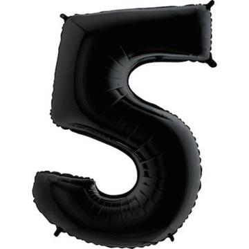 Obrázek Foliová číslice - černá 5