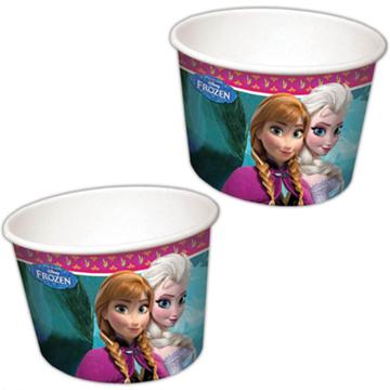 Obrázek Papírové kelímky na zmrzlinu Frozen Ledové království