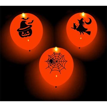 Obrázek Latexové balonky svítící - dýně - 4 ks