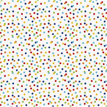 Obrázek Balící papír s barevné puntíky 76 x 152 cm