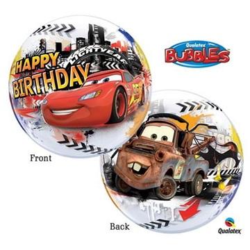 Obrázek Foliová bublina Cars Disney Happy Birthday - 56cm