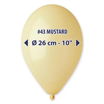 Obrázek Balonek hořčičně žlutý 26 cm