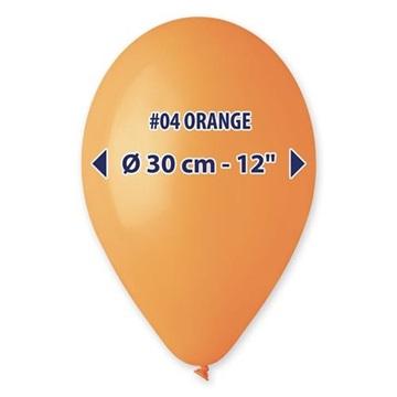 Obrázek Balonek oranžový 30 cm