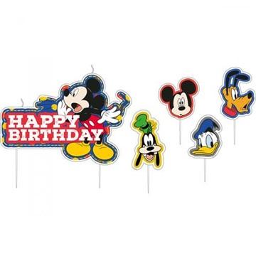 Obrázek Dortové svíčky Mickey Mouse Happy Birthday 17 ks