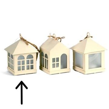 Obrázek Závěsná svíticí dekorace domeček - okna