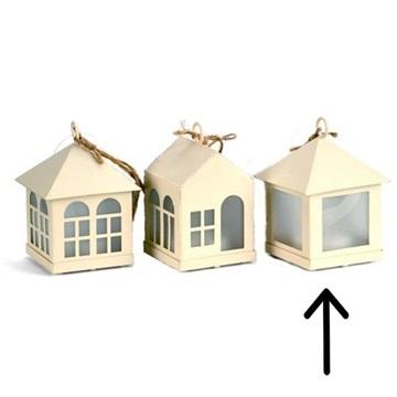 Obrázek Závěsná svíticí dekorace domeček - jednoduchá