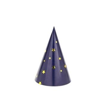 Obrázek Papírové čepičky s hvězdičkami  6 ks