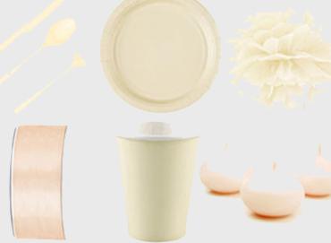 Obrázek pro kategorii Party dekorace a stolování - vanilková barva