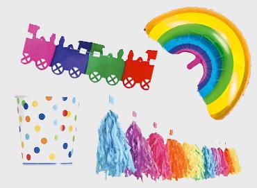 Obrázek pro kategorii Party dekorace a stolování - mix barev