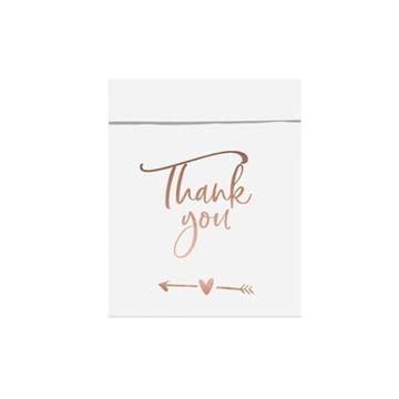 Obrázek Papírové svatební sáčky Thank you 6 ks