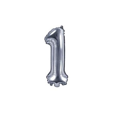 Obrázek Foliová číslice - stříbrná 1 - 35 cm