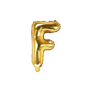 Obrázek Foliové písmeno F zlaté 35 cm