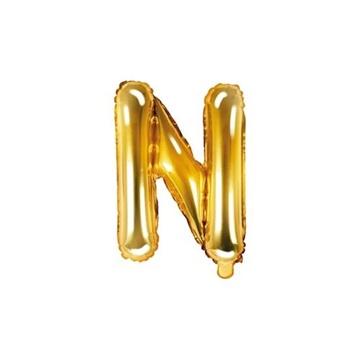 Obrázek Foliové písmeno N zlaté 35 cm
