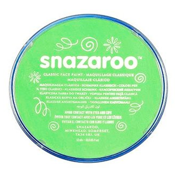 Obrázek Barva na obličej Snazaroo - zelená - Lime Green 18 ml