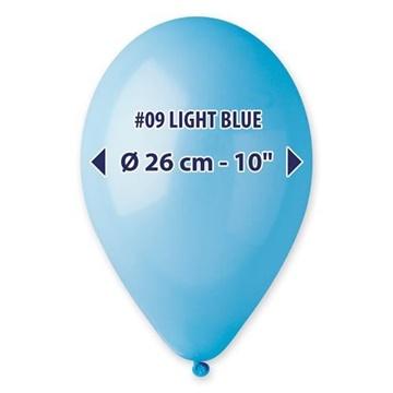 Obrázek Balonky 26 cm - světle modré 100 ks