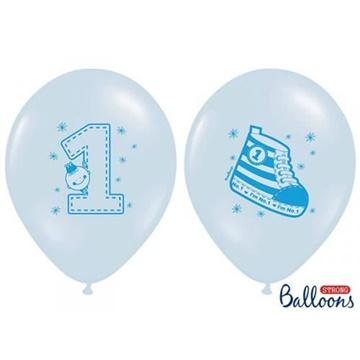 Obrázek Latexový balonek 1 s botičkou modrý