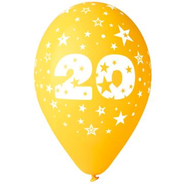 Obrázek Latexový balonek číslo 20 - 30 cm