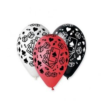 Obrázek Latexový balonek s potiskem Karty