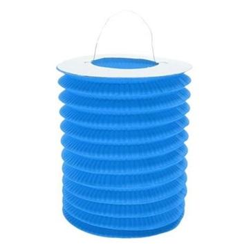 Obrázek Závěsný lampion válec - modrý