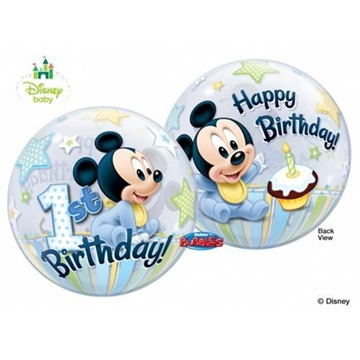 Obrázek Foliová bublina Mickey první narozeniny 56 cm