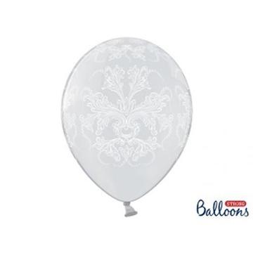Obrázek Latexový balonek průhledný s ornamenty 36 cm