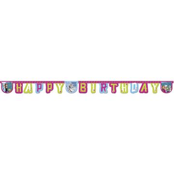 Obrázek Party nápis Frozen - Ledové království Happy Birthday 215 cm