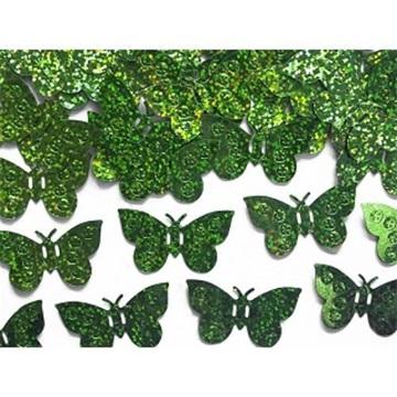 Obrázek Konfety motýli zelená - 15 g