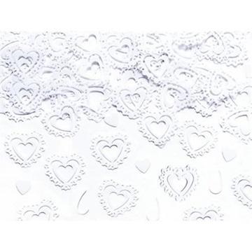 Obrázek Konfety bílá srdíčka - 15 g