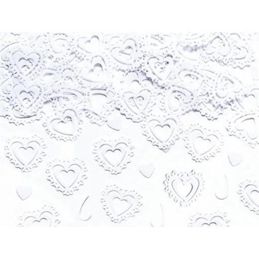 Obrázek z Konfety bílá srdíčka - 15 g
