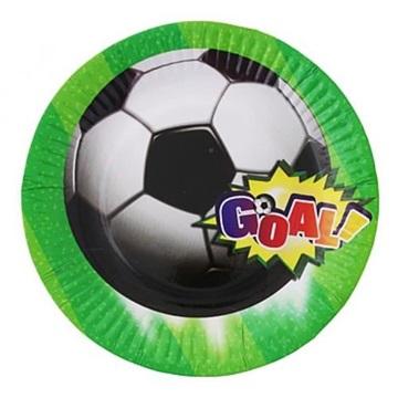 Obrázek Party papírové talířky fotbal 18 cm