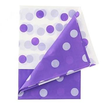 Obrázek Plastový party ubrus fialové puntíky 128 x 181 cm