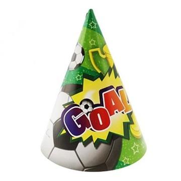 Obrázek Party papírové čepičky fotbal 6ks