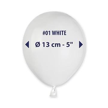 Obrázek Balonky 13 cm - bílé - 100 ks