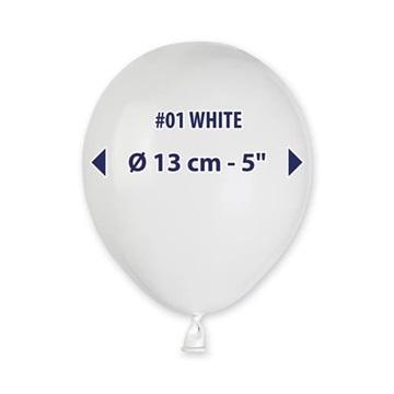 Obrázek Balonky 13cm - bílé - 100ks