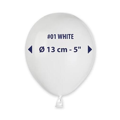 Obrázek z Balonky 13cm - bílé - 100ks