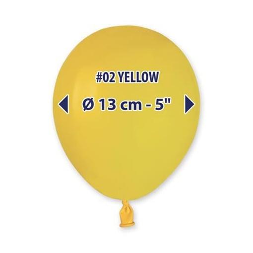 Obrázek z Balonky 13 cm - žluté - 100 ks