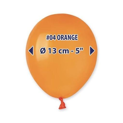 Obrázek z Balonky 13cm - oranžové - 100ks