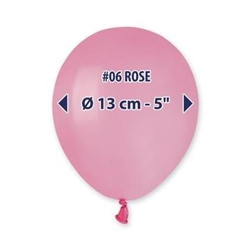 Obrázek Balonky 13 cm - růžové - 100 ks