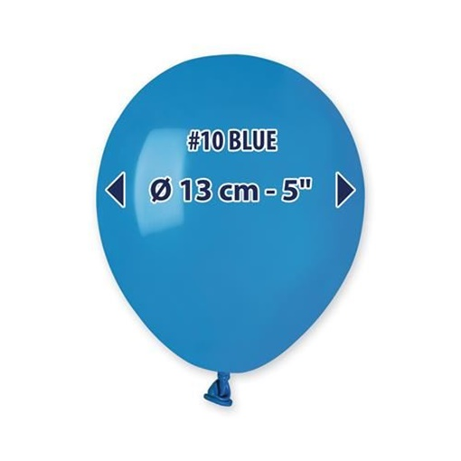 Obrázek z Balonky 13 cm - modré - 100 ks